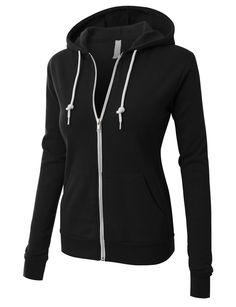 LE3NO PREMIUM Womens Active Soft Fleece Zip Up Hoodie Jacket