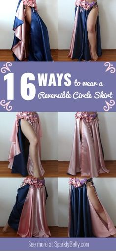 You can get so much out of 1 skirt! 16 Ways to Wear a Reversible Circle Skirt - SPARKLY BELLY