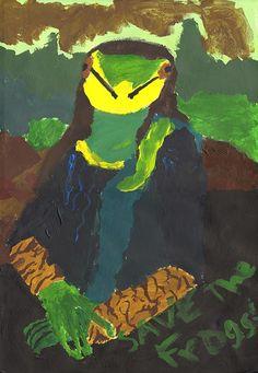 Mona Lisa frog art SAVE THE FROGS! Art Contest www.savethefrogs.com/art/2011