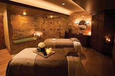 Utah's only Forbes five-star spa is here at Stein Eriksen Lodge in Park City. Experience ultimate relaxation with a massage or treatment at The Spa. Massage Room Decor, Massage Therapy Rooms, Spa Room Decor, Spa Therapy, Bedroom Decor, Spa Design, Salon Design, Design Ideas, Facial Room