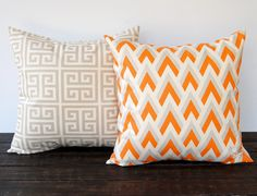 Throw pillow covers Pair 18 x 18 cushion covers by ThePillowPeople, $34.00