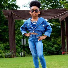 Little Girl Swag, Black Girl Swag, Black Baby Girls, Cute Little Girls Outfits, Cute Girl Dresses, Toddler Girl Outfits, Boy Outfits, Black Kids Fashion, Cute Kids Fashion