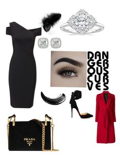 """""""Armed and Dangerous"""" by insertquirkyname on Polyvore featuring Roland Mouret, Christian Louboutin, Frederic Sage, Tagliatore and Prada"""