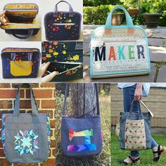 My mosaic for the #noodleheadswap . Makers tote, super tote with a pattern on side, or a Gingham tote. In addition to the fabrics listed in my email, I love anything by Rashida Coleman Hale, Bonnie Christine, and Sarah Watts.