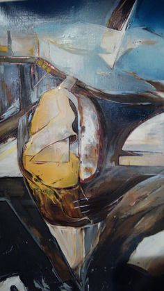 Mixed media abstract by Danny Yates