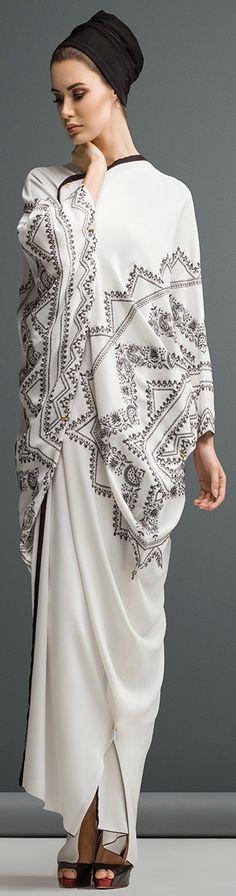 Mauzan abaya Dubai..Work  : Kashmiri Design Embroidery Fabric : White Crepe