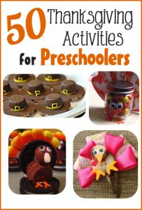50 Thanksgiving Activities for Preschoolers - do these with your kids! From FreebieFindingMom.Com #Thanksgiving #kidsstuff
