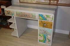 Update a family heirloom into a very cool & modern desk for a teen.