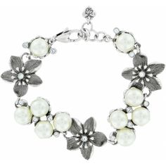 "Brighton vintage pearl and flower ""Catch the Moon"" bracelet..my beautiful Christmas treasure ♥"