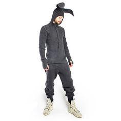 Hasenanzug Bunny Grau, £145, now featured on Fab.