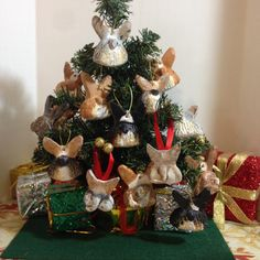 Christmas Corgi Butt ornaments 4 by CorgiKeepsakes on Etsy