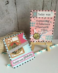 These lovelies were created by Daniela Dobson using the Today  and Stamp sets!  Just fabulous!