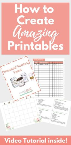 how to create printables for your blog