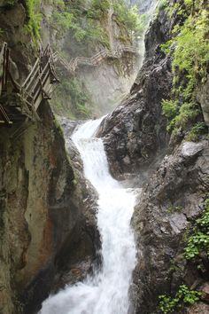 800 meters, 200 meters of elevation change gateways, 340 steps, 14 waterfalls. Waterfalls, Switzerland, Places Ive Been, Change, River, World, Outdoor, Outdoors, The World