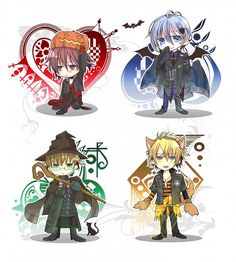 Shin the Jack-o-laren Ikki the Vampire Kent the Wizard and Toma the Werewolf