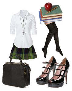 """""""Back to school at 40"""" by dragon-i-am ❤ liked on Polyvore featuring Steve Madden, Hollister Co., Steffen Schraut, Gucci, GUESS, Topshop, women's clothing, women's fashion, women and female"""