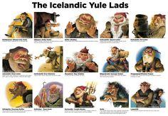 """The Icelandic Yule Lads, known as """"Jólasveinar"""", begin making their appearance 13 days before Christmas arriving one by one each night and leaving small gifts for the children. 13 days of gifts as well as Christmas gifts from Santa, sounds like a great idea to me! The Yule Lads originated from Icelandic folklore and were … … Continue reading →"""
