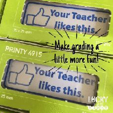 Make grading papers a little bit more fun with this stamp: Your Teacher Likes This!