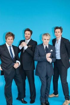 Duran Duran, an image from their photoshoot for Paper magazine.