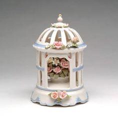 Fine Porcelain Gazebo Music Box