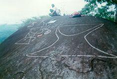 Exfoliación, deterioro natural. Roca El Indio Tamesis Antioquia Colombia