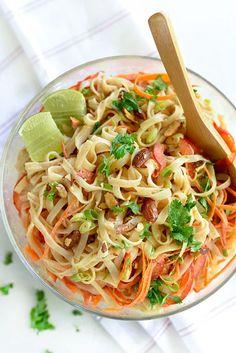 Thai Coconut Noodle Salad - foodiecrush