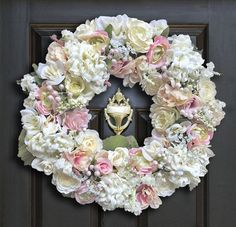 Superior Beautiful Spring Wreath   Pink And Green | Home Wreaths | Front Door Wreath  | Spring Wreaths By DecorDivaStudio On Etsy | Decor Diva Studio | Pinterest  ...