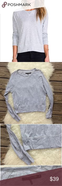 """Rag & Bone/JEAN Classic Raglan T-Shirt Good condition Rag & Bone/JEAN Classic Raglan in Light Grey. Size Small. Tiny pinhole shown in picture 3. Amazingly soft 55% cotton, 45% modal. Bust 40"""", length 22"""", sleeve length 26"""". No trades, offers welcome. rag & bone Tops Tees - Long Sleeve"""