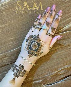 Pretty Henna Designs, Finger Henna Designs, Henna Tattoo Designs Simple, Latest Bridal Mehndi Designs, Full Hand Mehndi Designs, Henna Art Designs, Mehndi Designs For Girls, Mehndi Designs For Beginners, Mehndi Design Photos