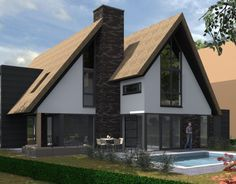 Bungalow Conversion, Different House Styles, Victoria House, Modern Villa Design, Architect House, Roof Design, Modern House Plans, Prefab Homes, Types Of Houses