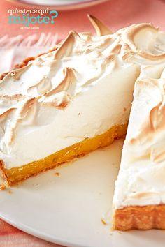 Tarte au citron avec meringue #recette Kraft Recipes, No Bake Desserts, Dessert Recipes, Desserts Printemps, Lemon Meringue Tart, Dessert Parfait, Spring Desserts, Marshmallow Creme, Homemade Pie