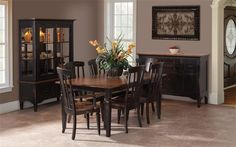 There's more to DutchCrafters dining room tables than just their shape. The Lexington Dining Room Set adds breadboard ends that stabilize. Dining Room Furniture Sets, Dining Room Table Chairs, Amish Furniture, Dining Decor, Dining Room Sets, Dining Room Design, Kitchen Tables, Minimalist Dining Room, Hardwood Table