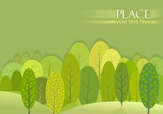 Abstract Green Trees Forest Background Stock Images