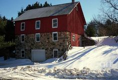 Winery Barn In Winter (Desiree Paquette)