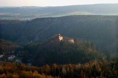 hrad Litice s údolím Divoké Orlice