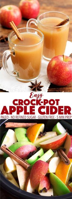 Easy to make and great for a party! This Crock-Pot apple cider is so simple to make in your slow cooker. It's paleo and can be made low carb and keto! Easy to make and great for a party! This Crock-Pot apple cider is so simple to m. Paleo Autoinmune, Dieta Paleo, Paleo Recipes, Low Carb Recipes, Free Recipes, Slow Cooker Apples, Slow Cooker Recipes, Crockpot Recipes, Crockpot Apple Cider