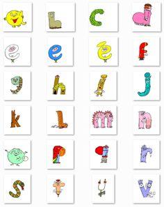 L'alphabet des Alphas en images (couleur et noir et blanc) à utiliser dans vos documents ou à imprimer directement.