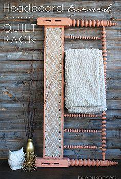 repurposing upcycling headboard quilt rack, chalk paint, crafts, repurposing upcycling