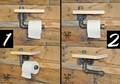 Carries toilet paper industrial plumbing vintage by IronWoodStache