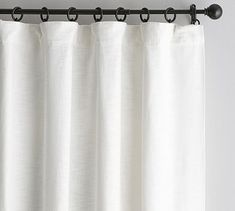Shop Pottery Barn for custom curtains and drapes. You'll find window coverings made from linen, silk and tweed in a host of colors and styles. Grey Blackout Curtains, Hanging Curtains, Bedroom Curtains, Curtains Living, Rod Pocket Curtains, Grommet Curtains, Pottery Barn, Curtain Texture, Houses