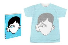 Wonder book tee at Litographs: Image is made up of the words from the actual novel if you look closely