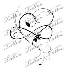 Marketplace Tattoo Infinity Heart #17169 | CreateMyTattoo.com