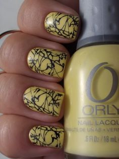 I've figured it out! The design is a stamp from one of those metal plates.  I need to get it. #nails #nailpolish