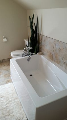 Catalyst General Contacting Inc. Corner Bathtub, Bathroom, Projects, Blue Prints, Bathrooms, Bathing, Corner Tub, Bath, Tile Projects