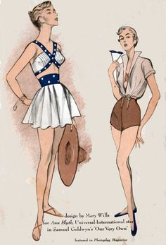 1950s Advance 5516 Designer Bombshell Bathing Suit by sandritocat, $150.00