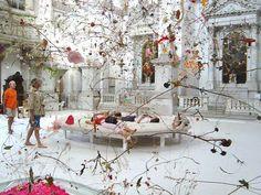 Falling Garden, installation by Gerda Steiner and Jörg Lenzlinger San Staë Church, Canale Grand.