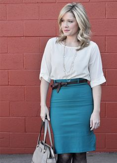 Emerald Skirt -The Small Things Blog, Kate