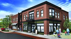 new mixed use buildings that look historic - Google Search