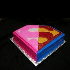 Gender reveal cake... Wonder Woman or Superman instead