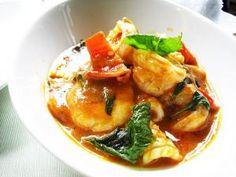 Crevettes au curry rouge à la façon thaïlandaise